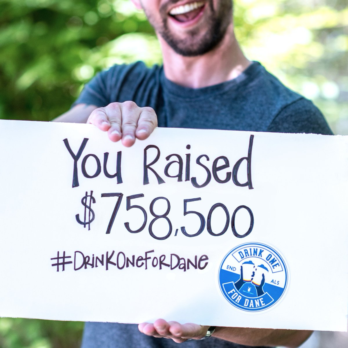 You're amazing #DutchNation! You raised $758,500 on #DrinkOneForDane day!  Thank's for loving those in need! #endals https://t.co/5KZWVO9o6H