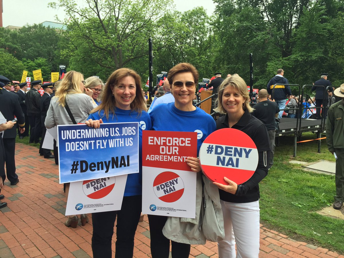 #DenyNAI @WeAreALPA Rally at the White House to Support U.S. Jobs! https://t.co/Uqr89UaBnw