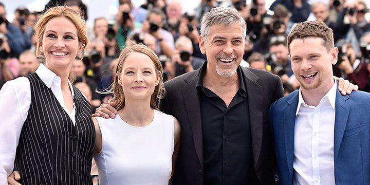 See MoneyMonster stars George Clooney, Julia Roberts and Jodie Foster stun at