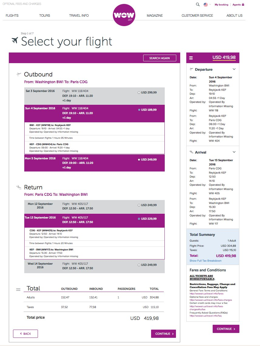 RT @airfarewatchdog: Baltimore BWI to Paris CDG $420 round-trip @wow_air for late summer/Sept travel. airfare ht…