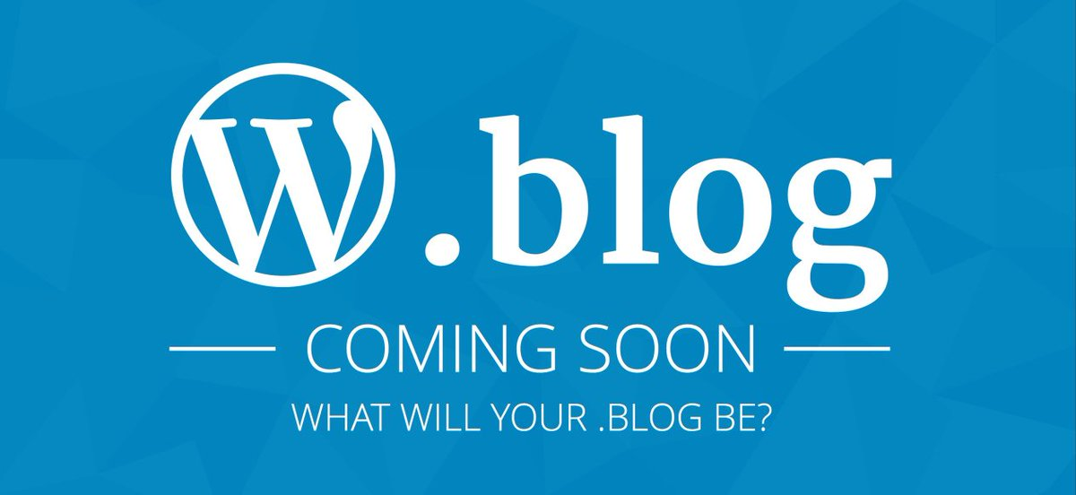 Coming Soon: New .Blog Domains for Websites https://t.co/37U8z3BRBe https://t.co/ByqnKyRMvi