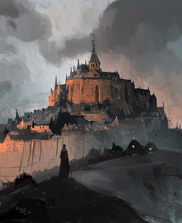 Gormenghast sketch, Mont St Michel-stylee https://t.co/bsod4R0G8h