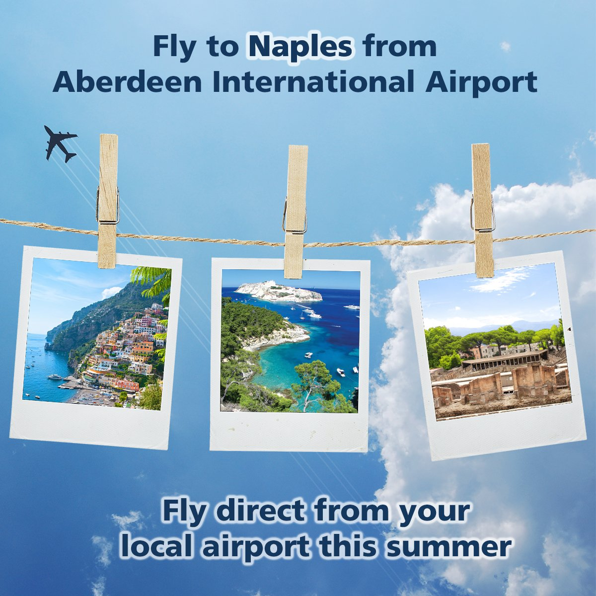Fly direct to Naples from your local airport this summer!