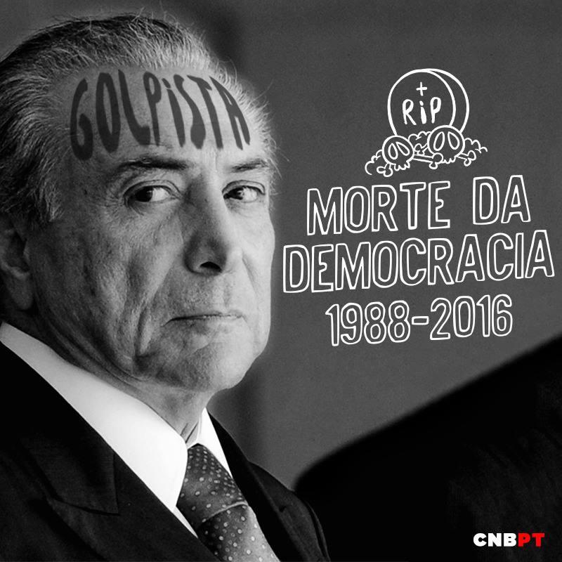 #LutoPelaDemocracia NENHUM MINUTO DE LUTO, E TODA UMA VIDA DE LUTA! https://t.co/ecov92hH25