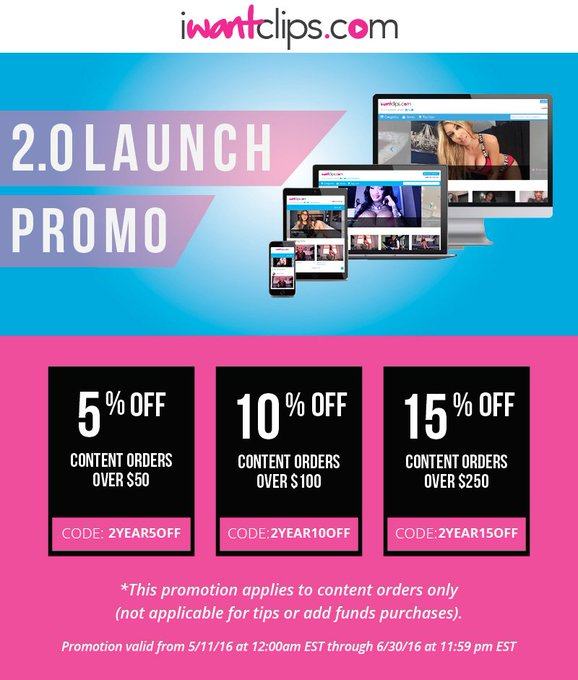 iWantClips Members! Check out the new iWantClips 2.0 promo! #promo #iWantClips https://t.co/rjUMbH3Y