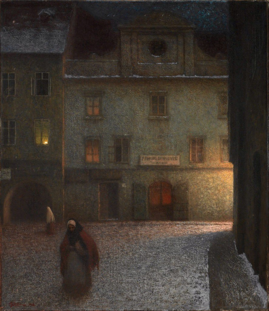 "Jakub Schikaneder's ""Street: Evening"" (1906) @ National Gallery, Prague #art #twitart @JohnConstableRA https://t.co/tNv3lMHbg7"