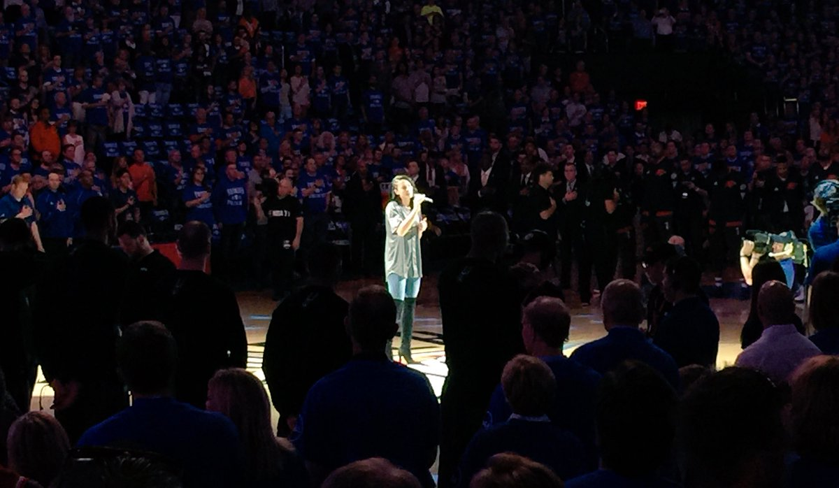 "W/ the Thunder looking to clinch, @madisonward22 got the night started w/ the signing of ""The Star Spangled Banner""! https://t.co/WS70BjzCxO"
