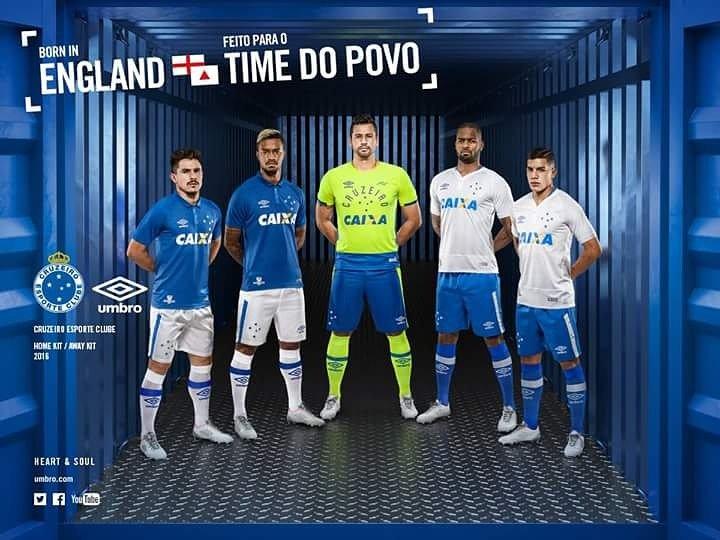 Born in England - Feito para o time do povo. E com vocês: as novas camisas do @Cruzeiro . #CruzeiroUmbro https://t.co/PeBaN1pJLD