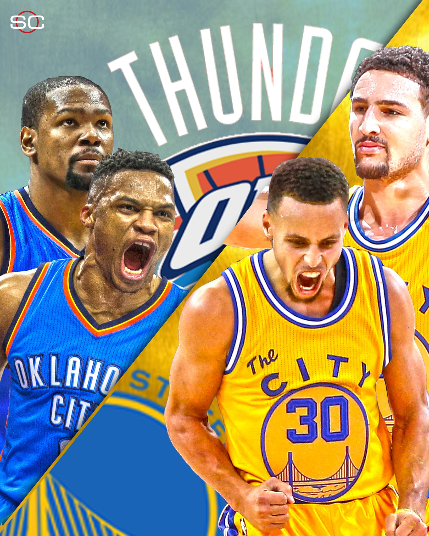 Thunder vs Warriors.  Russ & KD vs Steph & Klay.  The Western Conference Finals is set. https://t.co/iWBAdzGGCE