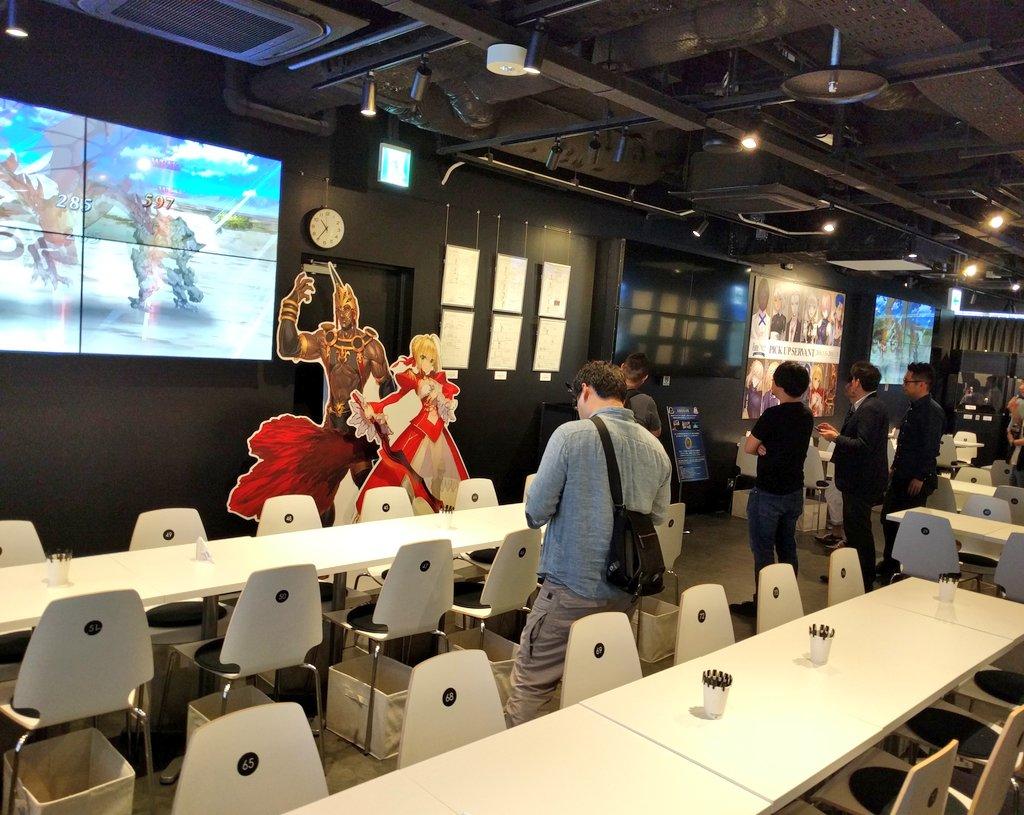 ぼくも午前中、Fate/Grand Partyの店内を見学させていただいたのでUp https://t.co/N1ZItpLyK3