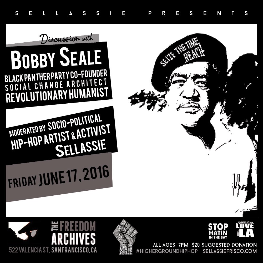 6/17 @freedomarchives #Sellassie Presents 1 on 1 w/ The Legendary @BobbySealecom Co-Founder of the #BlackPanthers https://t.co/24971dJd53