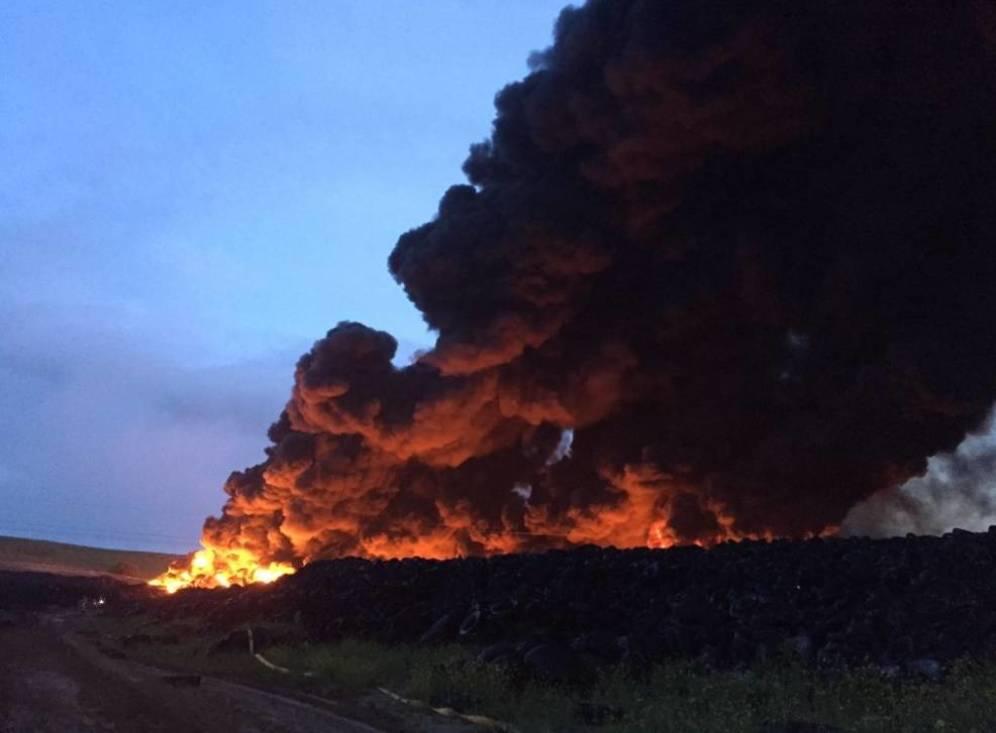 Estamos actualizando información sobre el incendio en el cementerio de neumáticos de Seseña