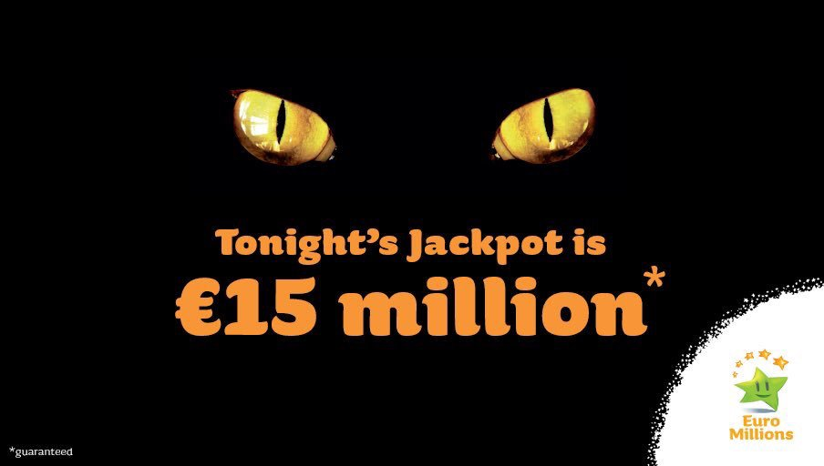 Friday the 13th...this could be your lucky day. Tonight's #EuroMillions Jackpot is 15M https://t.co/CUaBf9HUAj