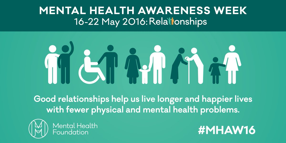 It's Mental Health Awareness Week! Good luck and thank you to all helping us raise awareness this week #MHAW16 https://t.co/Ob0STEQK7u