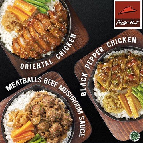 Yuk coba hidangan Nasi dengan Meatballs Beef Mushroom Sauce, Black Pepper Chicken, Oriental Chicken di #PizzaHutID https://t.co/FALwGS48ll