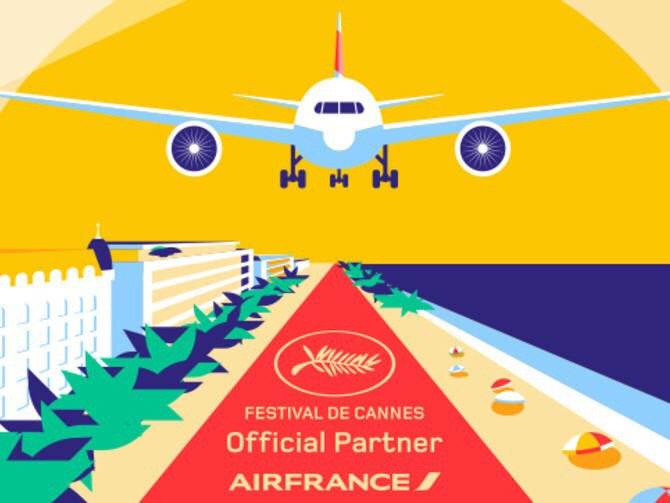 Air France partners with Cannes to let you finish watching your film after you land