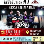 #jogja @pwtkrevolution: 4/6/16 13.00 Pawitikra Revolution#7-Recarnivable @TheRainBand di SMPN5Yk https://t.co/YvDqIem5ig