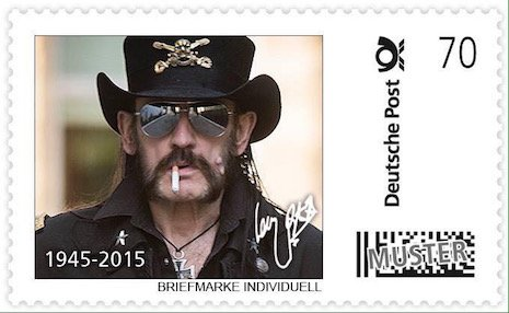 So the German postal service celebrates Lemmy of @myMotorhead in a new limited stamp issue. Now that's ace! https://t.co/i4S72ClCbb