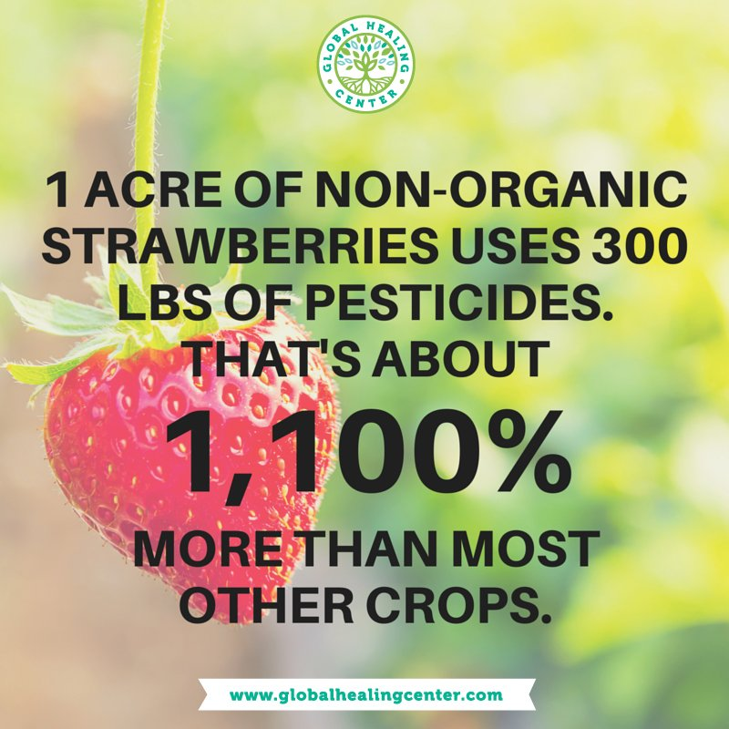Even if you're pro-GMO...you have to admit this fact is pretty staggering. At LEAST go organic with strawberries! https://t.co/z3sN92b4YC