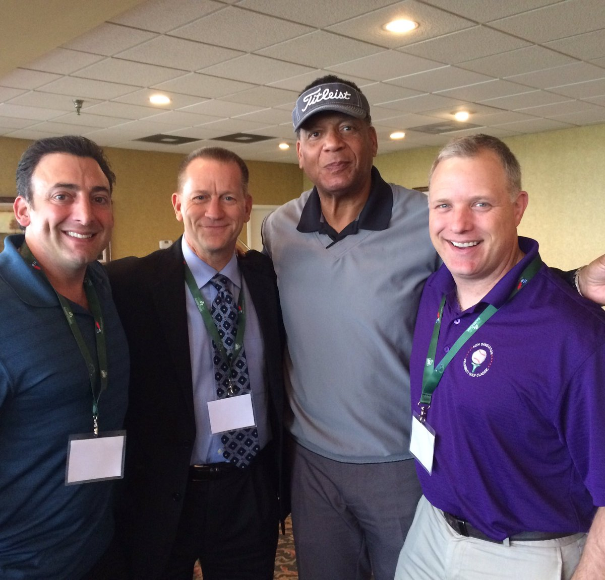 Great to hang w/@WBALPete @KeithMills1090 and Os great Ken Singleton announcing @CoolKidsOrg Celeb Golf Classic