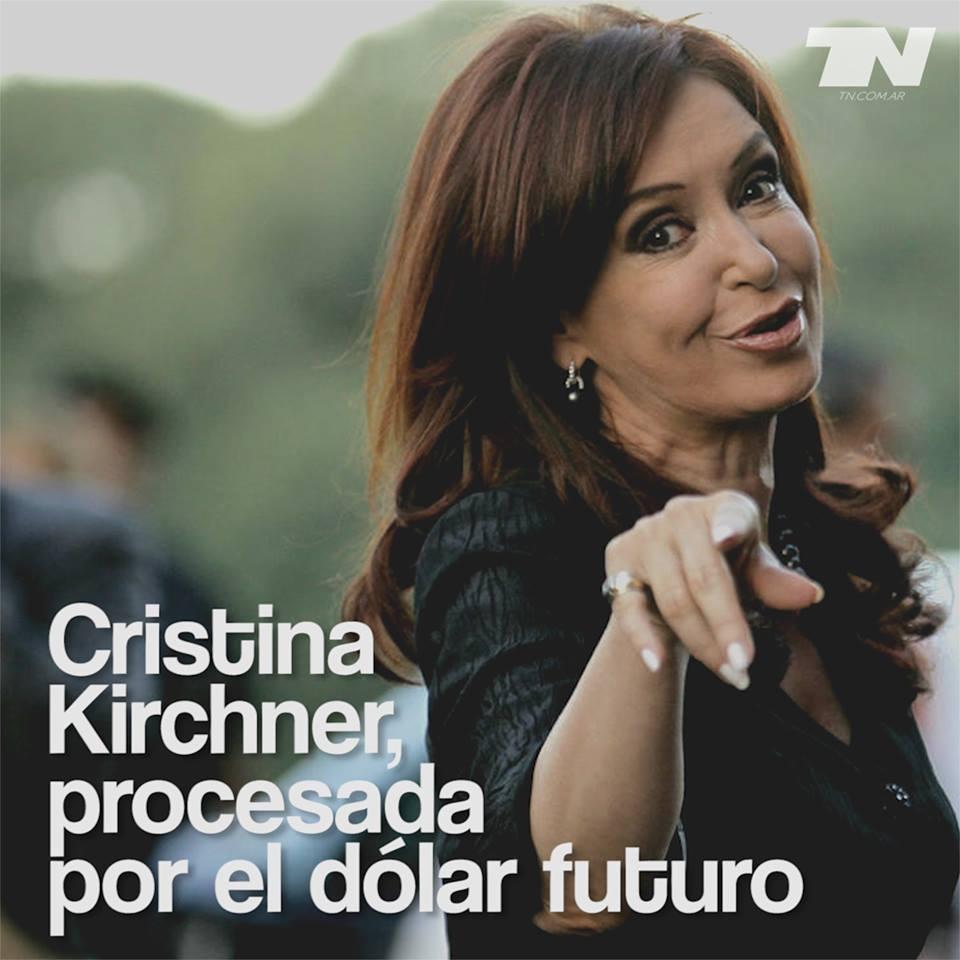 VIERNES 13  ARRANCA LA PESADILLA DE #CFKProcesada. Cristina Kirchner, procesada - https://t.co/Qwa2iqERux https://t.co/EmVnBbQxY7