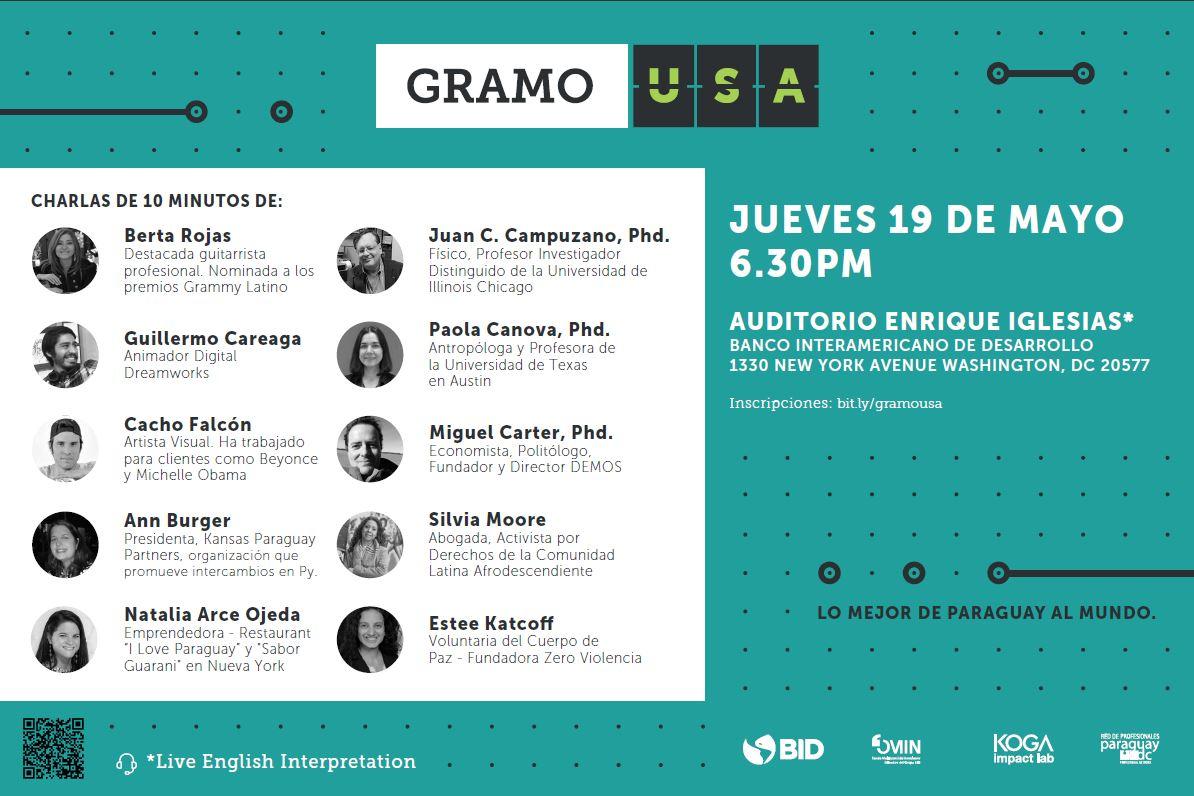 Lo mejor de #Paraguay viene a #DC, un evento gratuito de @gramopy @KogaImpactLab + detalles https://t.co/U8ICkUPZSo https://t.co/ECKQkbNNHQ