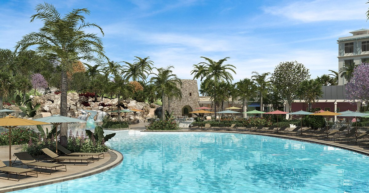 Receive a $150 hotel dining credit at Loews Sapphire Falls Resort: Restrictions apply.
