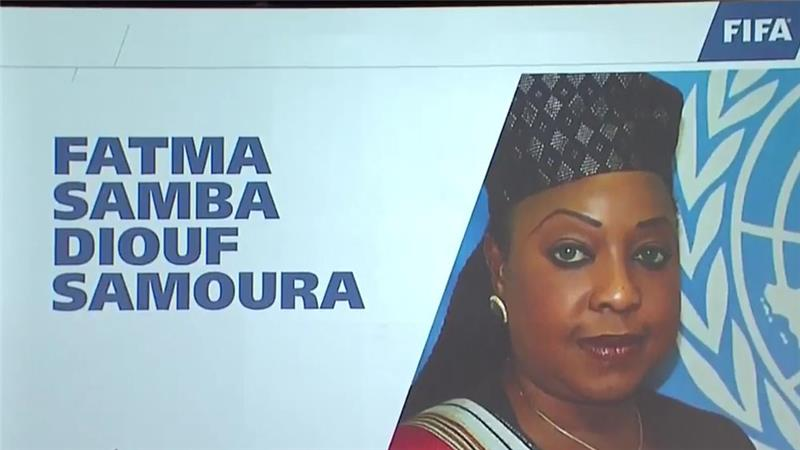 Senegal's Fatma Samoura becomes FIFA's first female secretary-general.