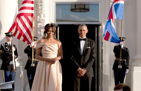 Michelle Obama makes a show-stopping entrance at the Nordic State Dinner: