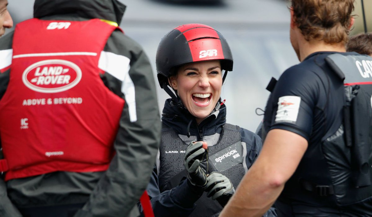Kate Middleton proves she looks good even at high speeds