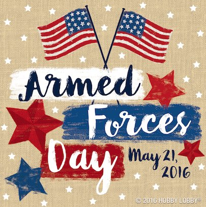 We are forever grateful for everything you do. Happy #ArmedForcesDay! https://t.co/hKMgnLFgbg