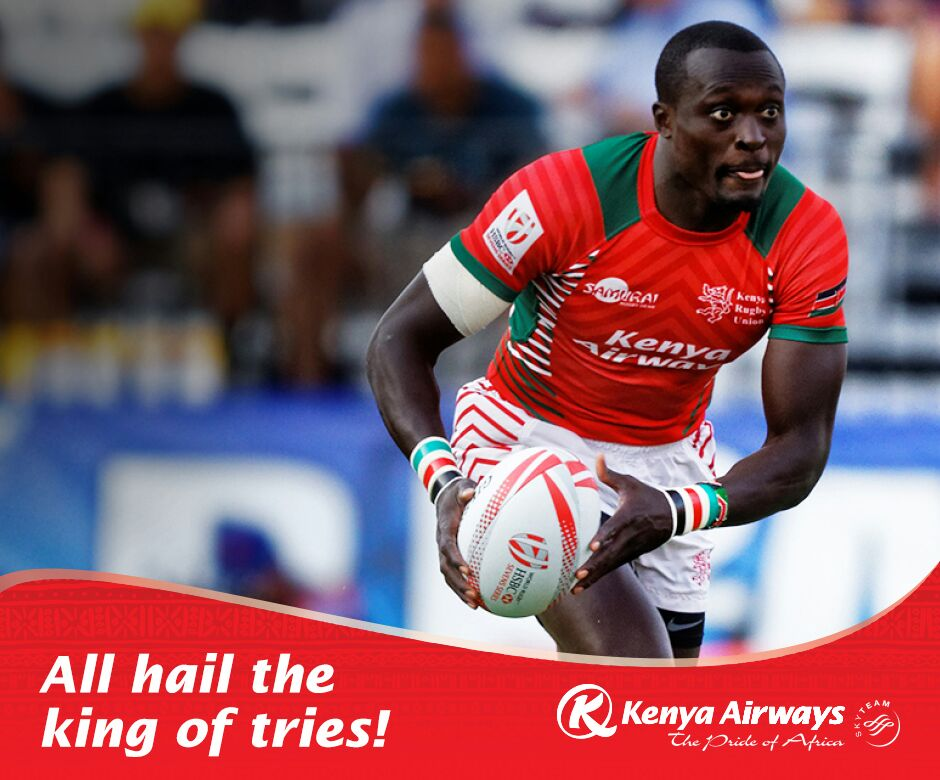 Congratulations to Collins Injera for becoming the top scorer in #Rugby7s @cinjera #Kenya7s. https://t.co/3AkKeuZKnb