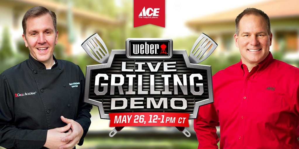 Kick off the summer w/ Ace & @WeberGrills! Join our live grilling demo Thur. 5/26, 12-1pm CT https://t.co/56N5m7b2rQ https://t.co/IkAhUKr2lD