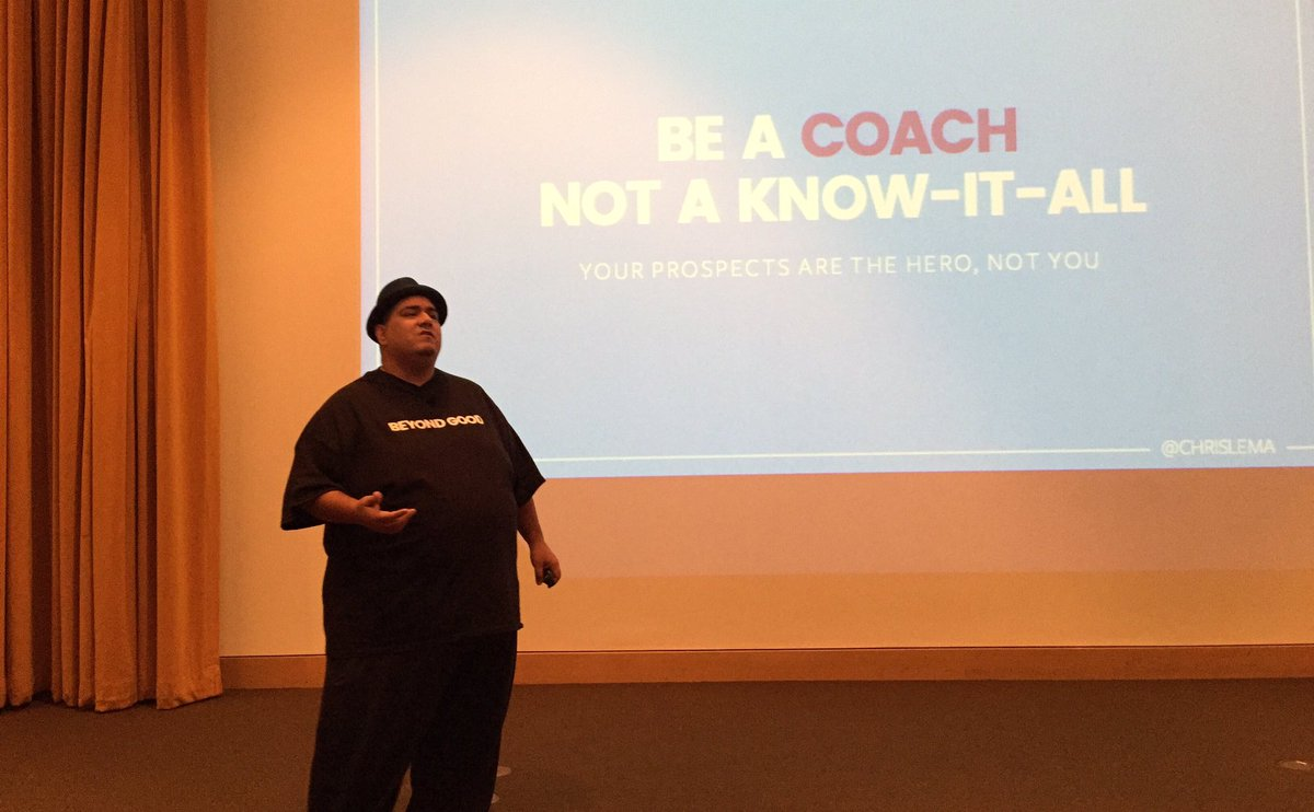"""Be a coach not a know it all"" – @chrislema #wcmpls https://t.co/BbMyxLu6eM"
