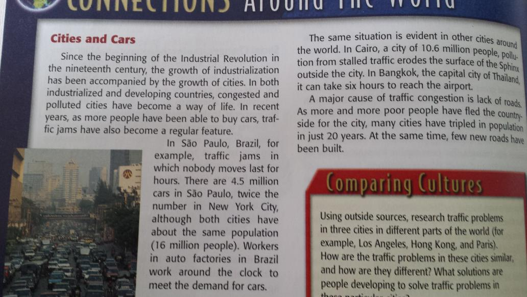 """Daughter's high school history text: """"major cause of traffic congestion is lack of roads"""" https://t.co/bSs7hGpfTe"""