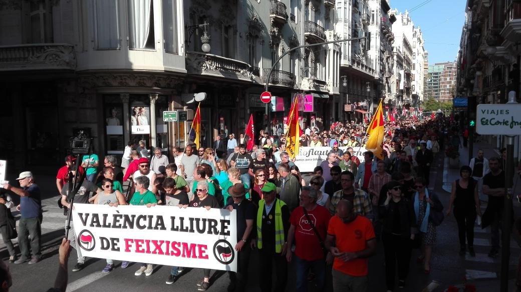 València diu NO al feixisme! #valènciaantifeixista #21MayoNazisNO #PrimaveraAntifeixista https://t.co/qebc9RZ1Gy
