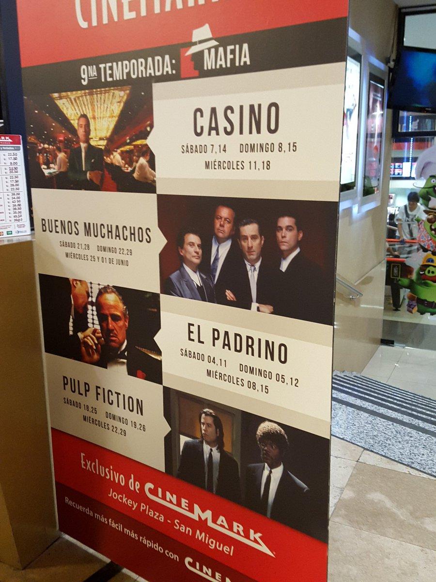 Verdad, buena cartelera de películas sobre la Mafia en @Cinemark_Peru. https://t.co/KbhvZ7cENI