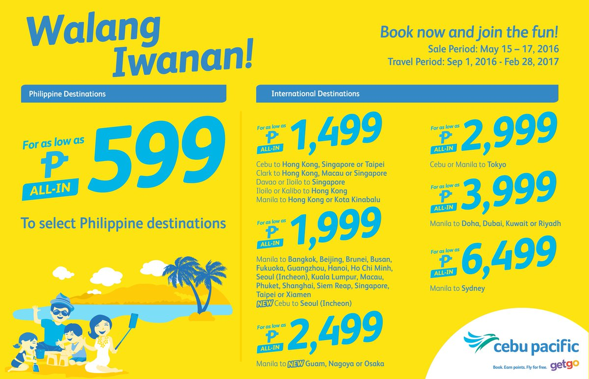 No Juan gets left behind with our new CEBSeatSale! Book now!