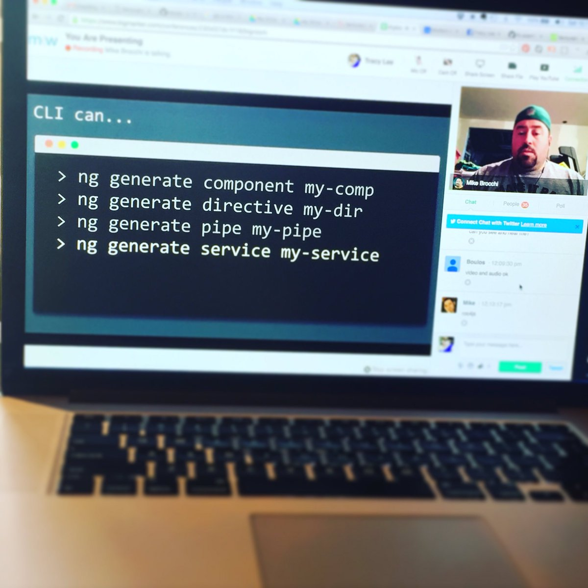 Watching broccoli @brocco give an #angularcli talk on @modernweb_ this morning! #angularjs #angular2 https://t.co/FRShCTzpkx