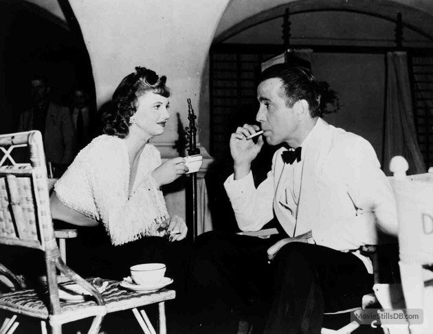 Madeleine Lebeau (1923-2016) and Humphrey Bogart on the set of CASABLANCA (1942) #TCMParty https://t.co/YVloHwtWo9
