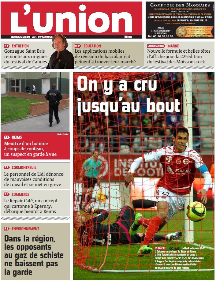 L Union De Reims : voici la une de l 39 union reims du dimanche 15 mai 2016 ~ Dailycaller-alerts.com Idées de Décoration