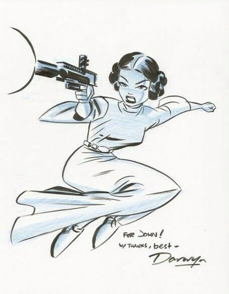 Princess Leia by Darwyn Cooke. Imagine what a full Star Wars comic run would have been like. #RIPDarwynCooke https://t.co/SFrl925BNh