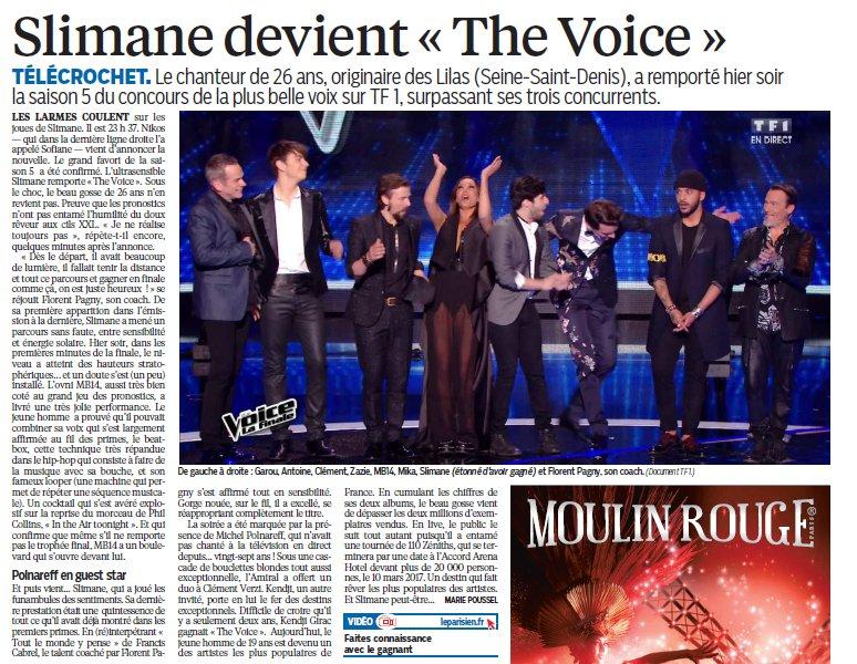 Silmane devient #TheVoice ! (Le Parisien) https://t.co/mCRUCY5Yma