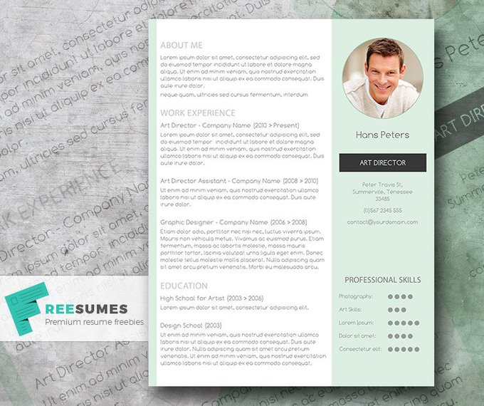Get finally hired with this streamlined Freebie resume template editable with MS Word