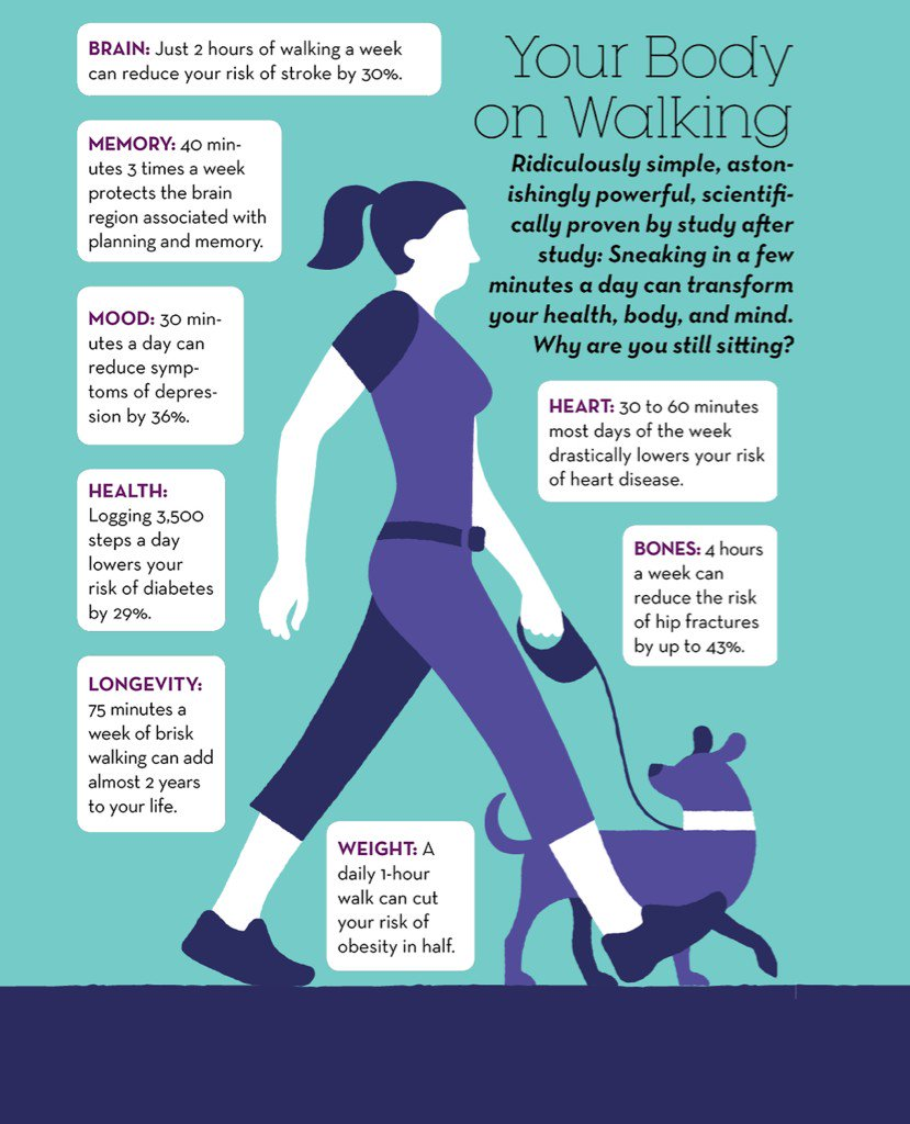 The AMAZING benefits of walking https://t.co/Eu1P5xBdge