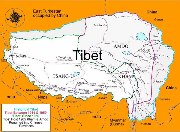 #Tibet: Three times bigger than  #Texas and under an illegal & violent occupation since 1950! #trueTibet https://t.co/EnV3AjjJXI