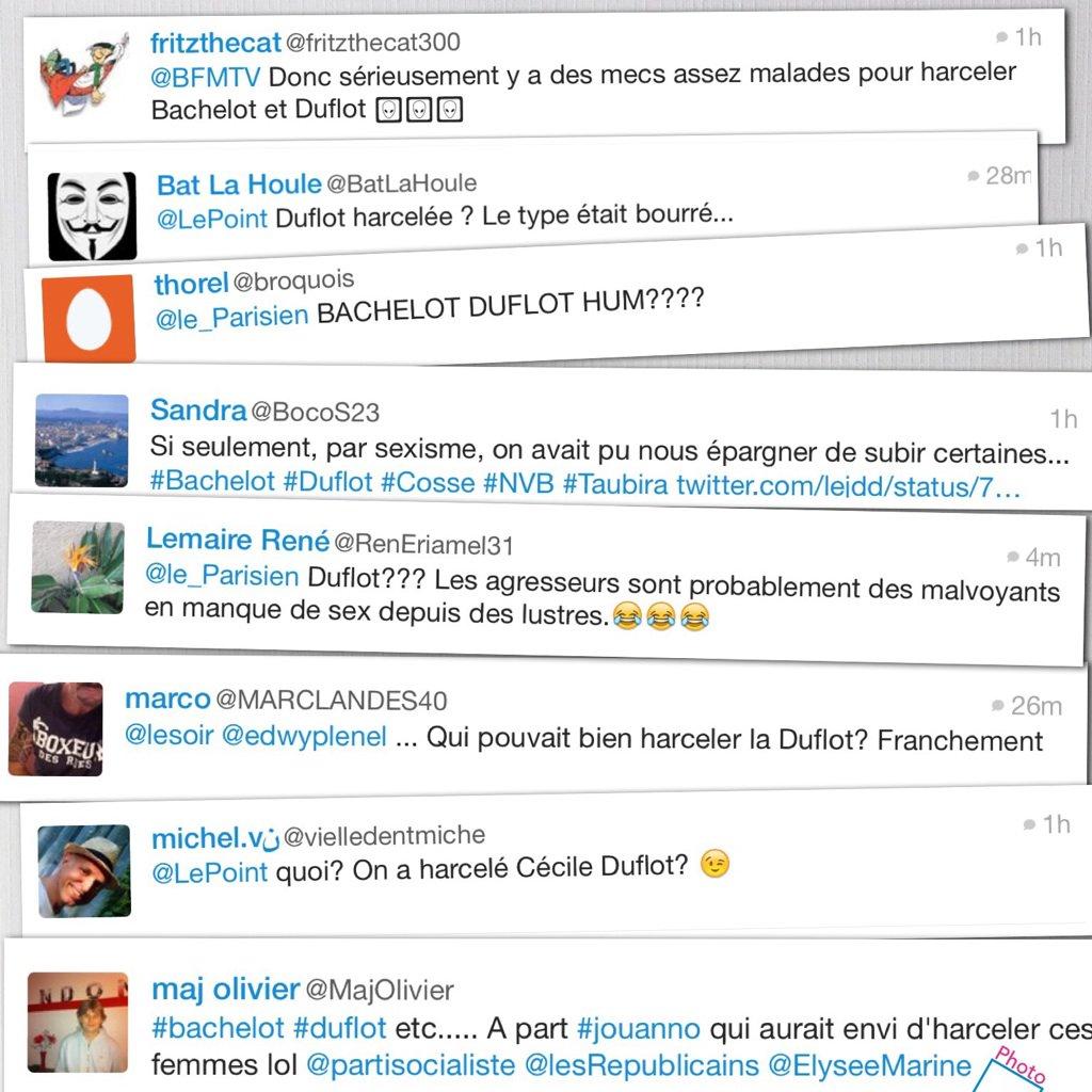 Petite illustration du débat précédent : huit tweets attrapés au vol... en moins d'une heure... #sexisme #longchemin https://t.co/E2YKYQ2amJ