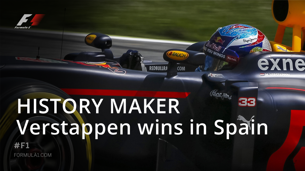 BREAKING  HISTORY MADE IN BARCELONA  MAX VERSTAPPEN WINS THE #SPANISHGP