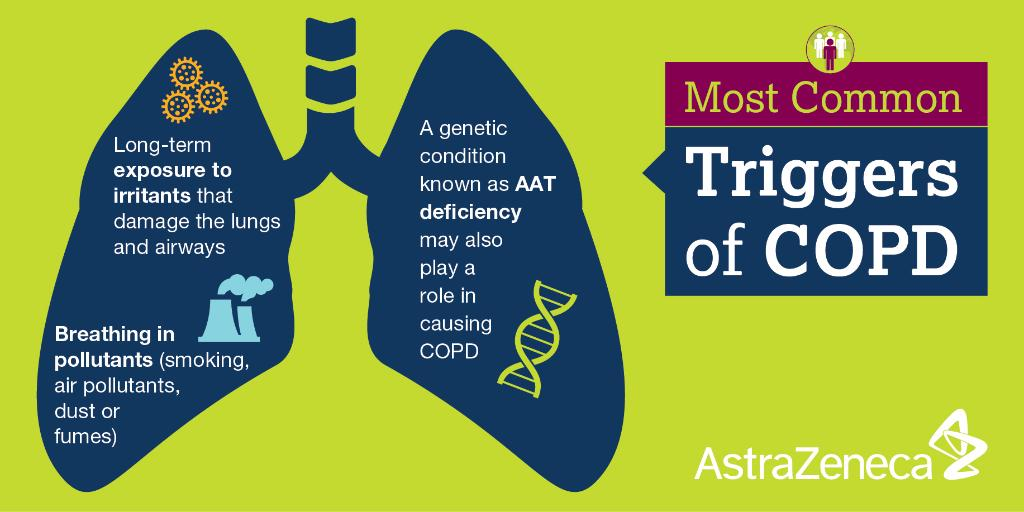 Exposure to smoke, occupational dust, air pollution & genetic factors can all cause #COPD #ATS2016 https://t.co/C6HuV64g9O