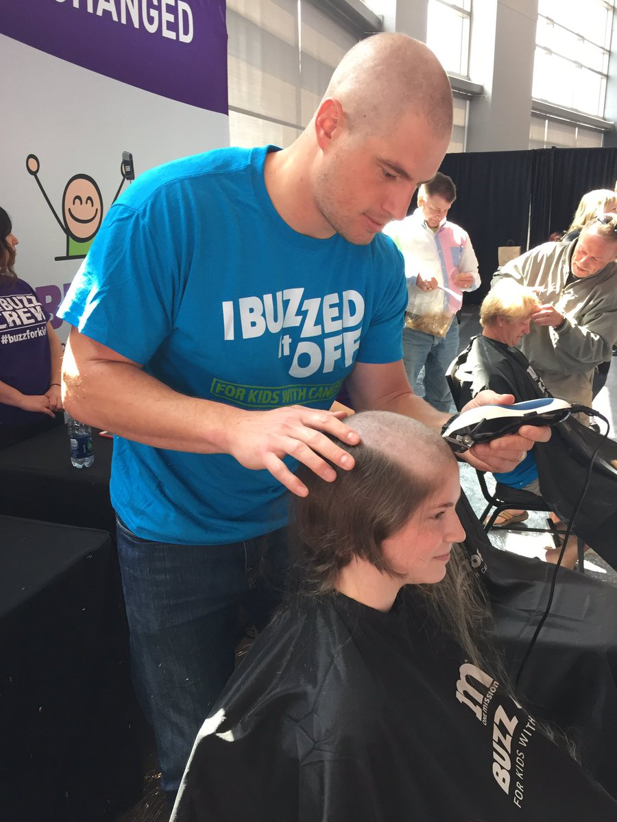 I went bald today for kids fighting cancer with @buzzforkids! You can get involved too. https://t.co/5ikKfJScPn https://t.co/AiVShWrVZ7